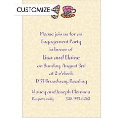 Hers and Hers Coffee Mugs Custom Wedding Invitation