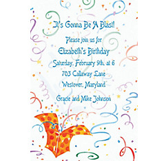 Exploding Present Custom Invitation