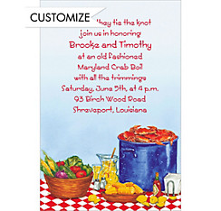 Party with Maryland Crabs Custom Invitation