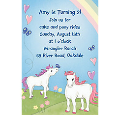 Pretty Ponies Custom Invitation