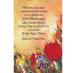 Bouquet in Oil Custom Invitation