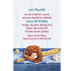 Baseball Still Life Custom Invitation
