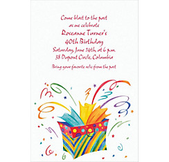 Bursting Gift Bag Custom Invitation