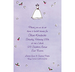 Custom Sweet Bride's Dress Wedding Invitations