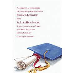 Custom Cap & Diploma Graduation Invitations