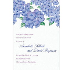Lively Hydrangeas Custom Invitation