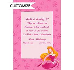 Aurora on Pink Daisies Custom Invitation