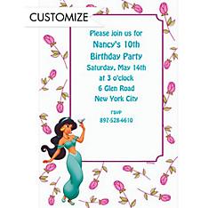 Jasmine with Stem Roses Custom Invitation