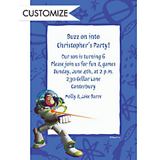 Custom Buzz Lightyear Border Invitations