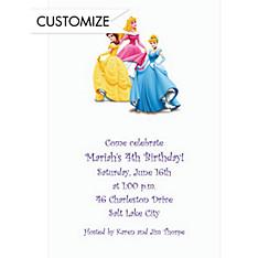 Pretty Princess Pose Custom Invitation
