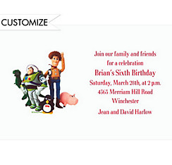 Woody, Buzz & Friends Custom Invitation