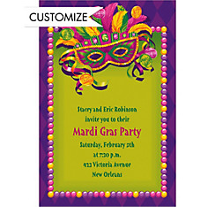 Masquerade Custom Mardi Gras Invitation