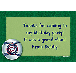 Washington Nationals Custom Thank You Note