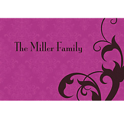 Holiday Filigree Purple Custom Christmas Thank You Note