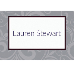 Floating Border Gray Custom Thank You Note