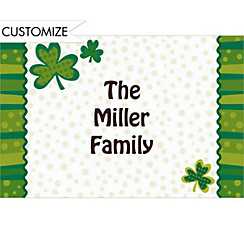 Custom Lucky Wishes St. Patrick's Day Thank You Notes