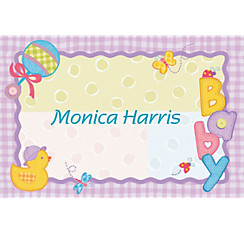 Hugs and Stitches Custom Baby Shower Thank You Note