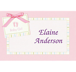 Pink Baby Soft Baby Shower Custom Thank You Note