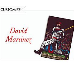Baseball Card Custom Thank You Note