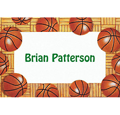 Basketball Border Custom Thank You Note