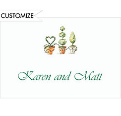 Potted Topiaries Custom Bridal Shower Thank You Note