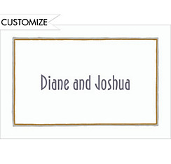 Gray & Gold Lines/White Custom Thank You Note