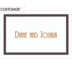 Narrow Black Texture Custom Thank You Note