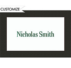 Green Texture/White Custom Thank You Note