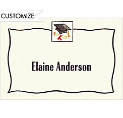 Black Simple Mortarboard Custom Thank You Notes