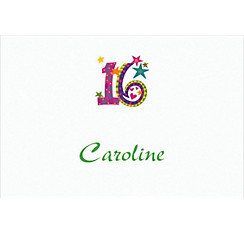 Colorful 16 Custom Thank You Note