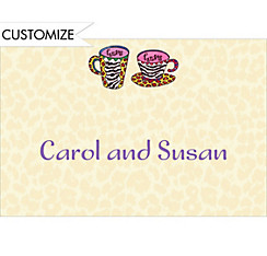 Hers and Hers Coffee Mugs Custom Wedding Thank You Note