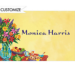 Colorful Brunch Setting Custom Thank You Note