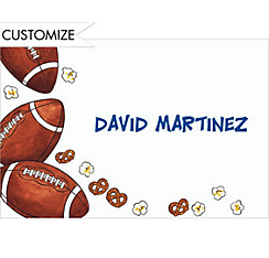 Football Party Custom Thank You Note