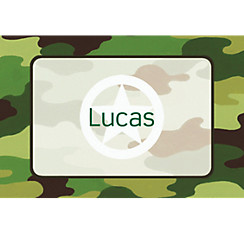 Green Camouflage Custom Thank You Note