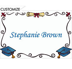 Scholarly Grad Border Custom Thank You Notes
