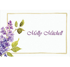 Pretty Posed Lilacs Custom Thank You Note