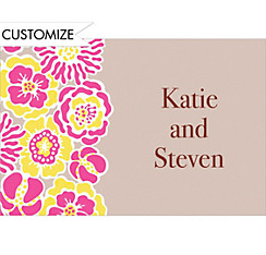 Big Pink Bloom Pattern Custom Thank You Note