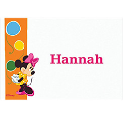 Minnie Mouse Bright Birthday Custom Thank You Note