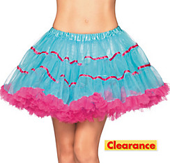 Adult Turquoise and Pink Tulle Petticoat