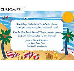 Beach Postcard Custom Invitation
