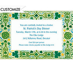 Celtic Border Custom St. Patricks Day Invitation