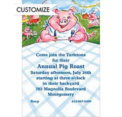 Pig Picnic Custom Invitation