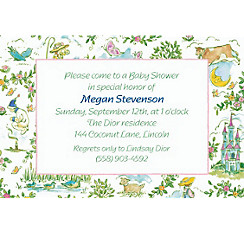 Fairytale Toile Custom Baby Shower Invitation