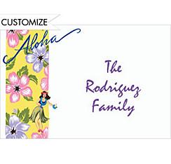 Aloha Custom Thank You Note