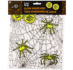 White Glow in the Dark Stretch Spider Web