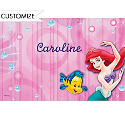 Little Mermaid and Flounder Custom Thank You Note