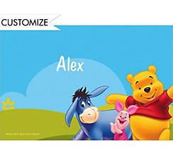 Pooh in Sunshine Custom Thank You Note