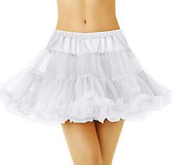 Adult White Tulle Petticoat