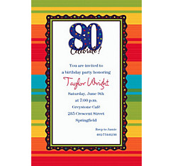 A Year to Celebrate 80 Custom Invitation