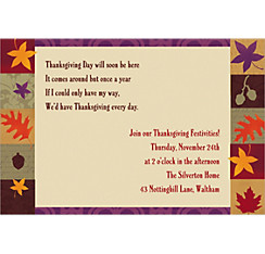 Classical Fall Custom Invitation